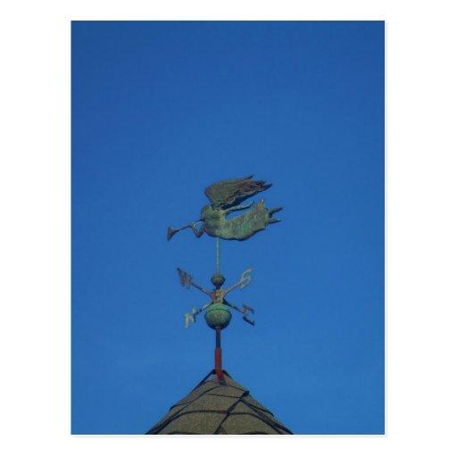 Paleta de tiempo del ángel tarjetas postales