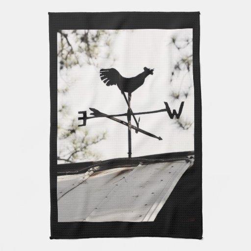 Paleta de tiempo del arte popular en el tejado del toallas de mano