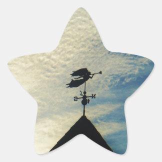 PALETA de TIEMPO del CUERNO del ángel QUE SOPLA Calcomanías Forma De Estrella Personalizadas