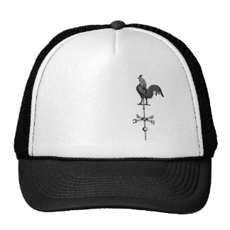 Paleta de tiempo del gallo del vintage gorra