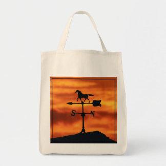Paleta de tiempo en la puesta del sol bolsa tela para la compra