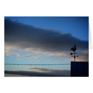 Paleta de tiempo en la salida del sol tarjeta de felicitación
