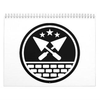 Paleta del albañil calendarios