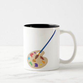 Paleta del arte tazas de café