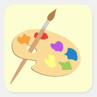 Paleta del artista pegatina cuadradas personalizadas