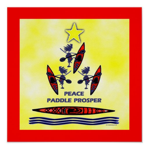 Paleta del día de fiesta del kajak impresiones