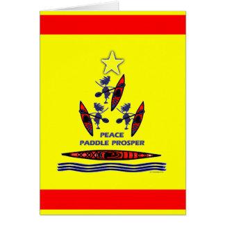 Paleta del día de fiesta del kajak tarjetas