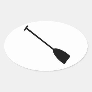 Paleta del kajak de la canoa pegatina ovalada