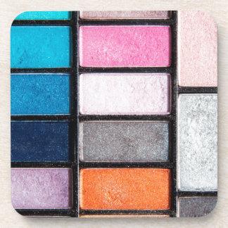 Paleta del maquillaje - impresión de los apoyavasos
