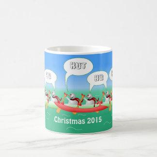 Paleta del navidad taza clásica