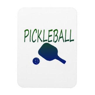 paleta del pickleball w y azul de la bola a imanes de vinilo