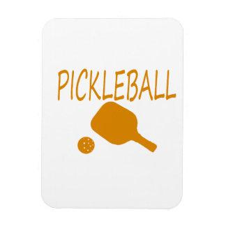 paleta del pickleball w y naranja de la bola imán