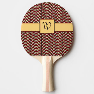 Paleta del ping-pong de Chevron del estampado Pala De Tenis De Mesa
