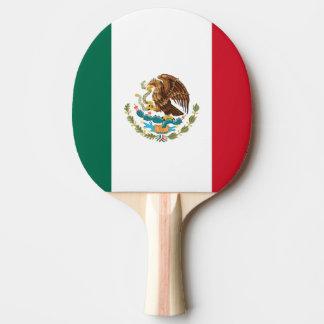 Paleta del ping-pong de la bandera mexicana para l pala de ping pong