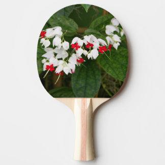 Paleta del ping-pong de la vid del corazón pala de tenis de mesa
