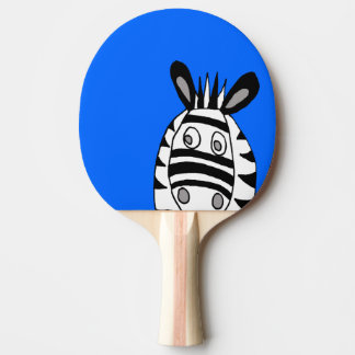 paleta del ping-pong de las cebras del dibujo pala de ping pong