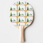 Paleta del ping-pong de las Felices Navidad Pala De Ping Pong