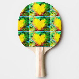 paleta del ping-pong de los corazones de oro pala de tenis de mesa