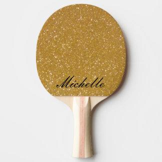Paleta del ping-pong del brillo del oro para los pala de ping pong
