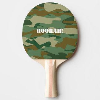 Paleta del ping-pong del camuflaje del ejército pala de tenis de mesa