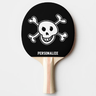 Paleta del ping-pong del cráneo del pirata para lo pala de tenis de mesa