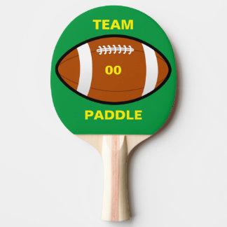 Paleta del ping-pong del equipo de fútbol pala de tenis de mesa