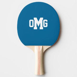 Paleta del ping-pong del monograma del deporte pala de tenis de mesa
