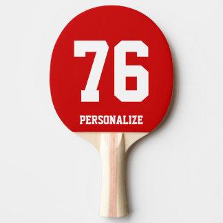 Paleta del ping-pong del número del jersey para pala de tenis de mesa