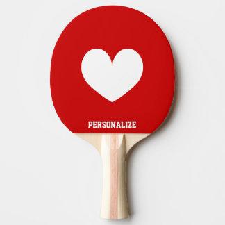 Paleta del ping-pong del símbolo del corazón para  pala de tenis de mesa