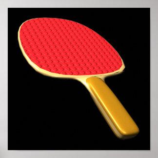 Paleta del ping-pong impresiones