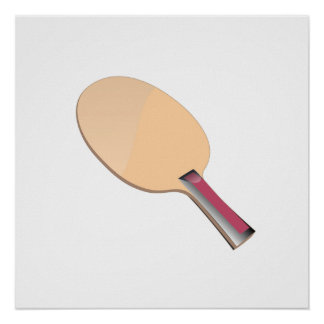 Paleta del ping-pong poster