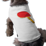 Paleta del ping-pong ropa de mascota
