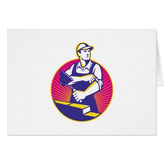 Paleta del trabajador de construcción de albañiler tarjeta de felicitación