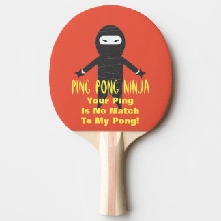 Paleta divertida del ping-pong de Ninja del Pala De Tenis De Mesa