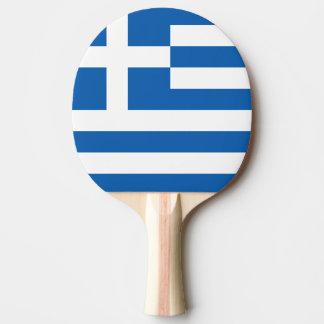 Paleta griega del ping-pong de la bandera para los pala de ping pong