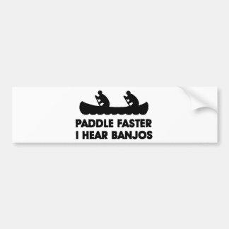 Paleta más rápidamente oigo el banjo pegatina para auto