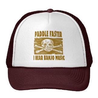 Paleta más rápidamente oigo música del banjo gorros