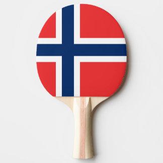 Paleta noruega del ping-pong de la bandera para pala de tenis de mesa