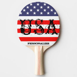 Paleta patriótica del ping-pong de los E.E.U.U. Pala De Tenis De Mesa