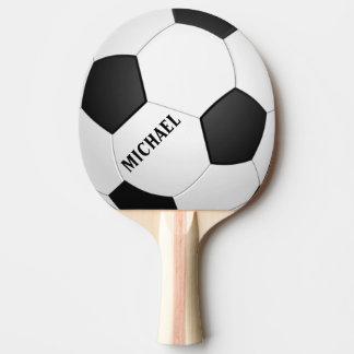 Paleta personalizada del ping-pong del fútbol del  pala de ping pong
