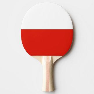 Paleta polaca del ping-pong de la bandera para los pala de ping pong