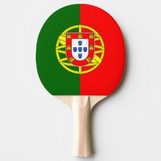 Paleta portuguesa del ping-pong de la bandera para pala de ping pong