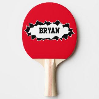 Paleta rasgada divertida del ping-pong de los pala de ping pong