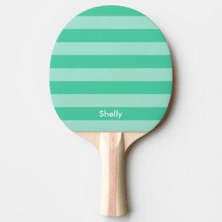 Paleta rayada personalizada del ping-pong de los pala de tenis de mesa