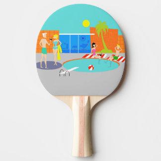 Paleta retra del ping-pong de la fiesta en la pala de tenis de mesa