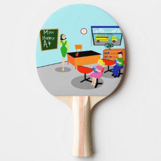 Paleta retra del ping-pong del profesor pala de tenis de mesa