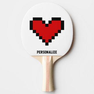 Paleta roja del ping-pong de los tenis de mesa del pala de ping pong