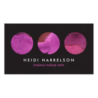 Paleta rosada de la belleza para el artista de maq tarjetas de visita