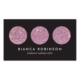 Paleta rosada del brillo para el artista de maquil tarjeta de visita
