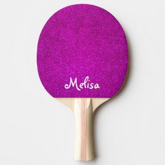 Paleta rosada del ping-pong del brillo para el chi pala de ping pong